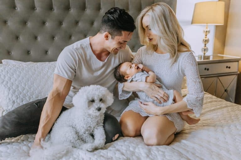 Couple with Baby and Dog