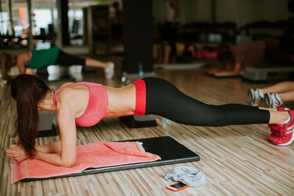 Woman Doing Plank Workout