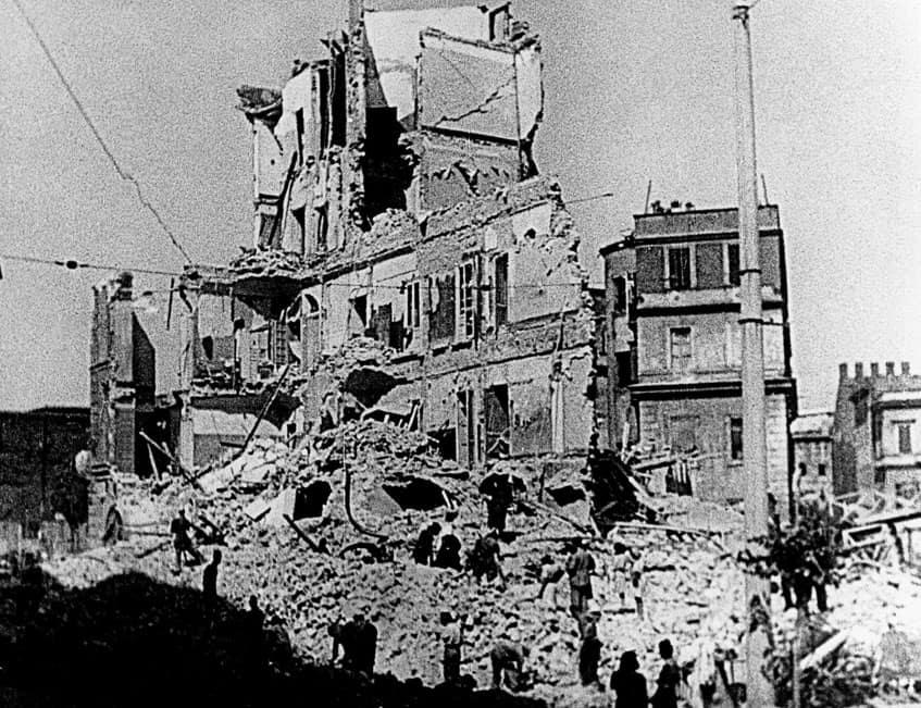 Watch Associated Press International News Italy VIEW OF DAMAGED BUILDING